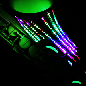 glow light saxophone ibiza