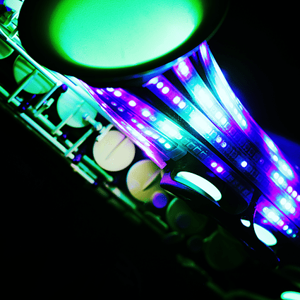 LED UV Sax DJ Show Package Events