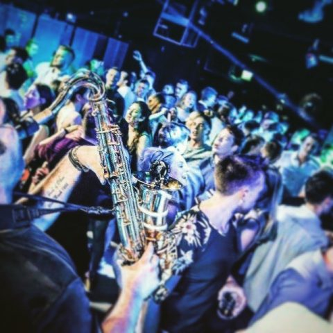 nightclub entertainment saxophone player
