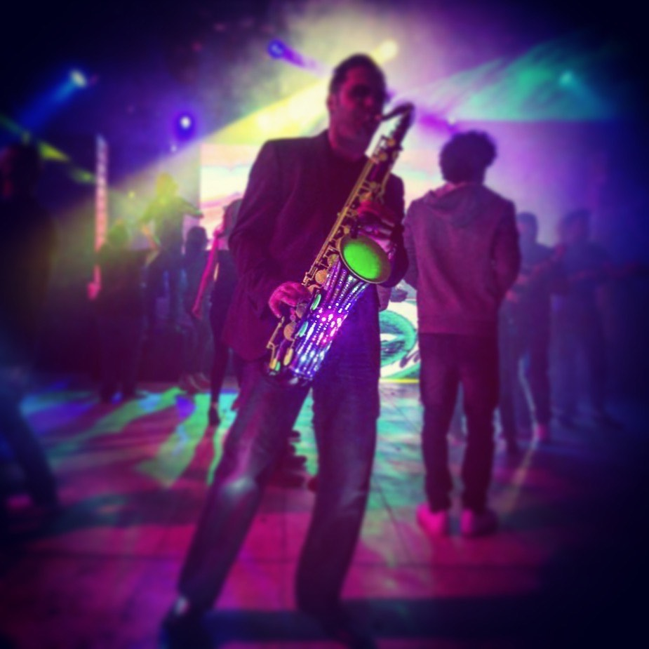 Bahrain Club Night LED Saxophone